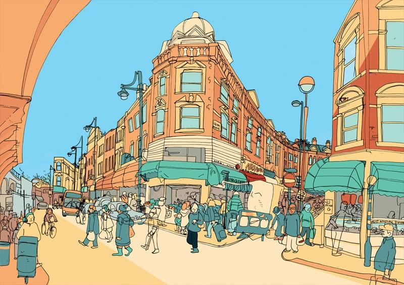 Jack Noel's Sweet View Is An Illustrated Series of London's Main Boroughs - The Fox Is Black