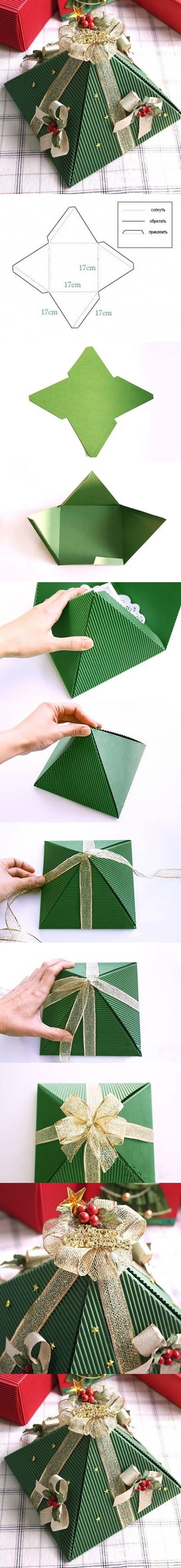 DIY Pyramid Christmas Box DIY Projects | UsefulDIY.com