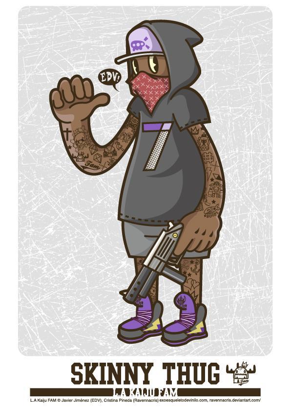 Skinny Thug - L.A Kaiju FAM by *ExoesqueletoDV