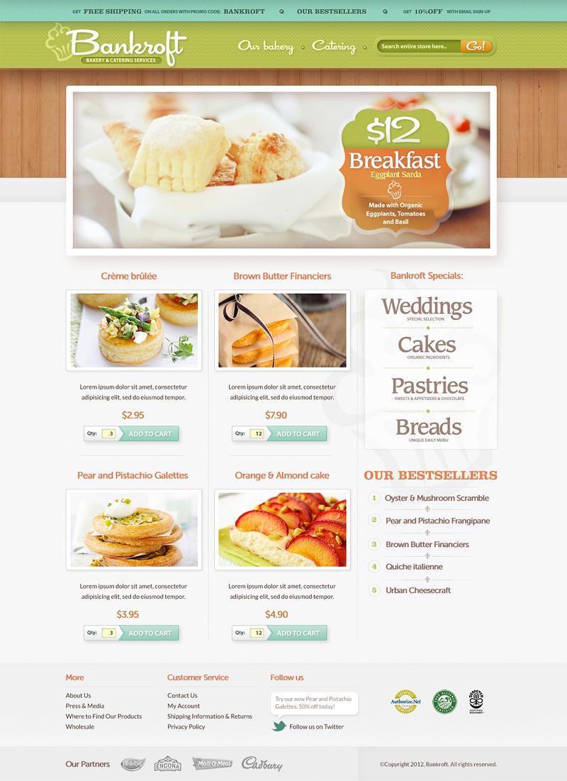 Bankroft Bakery Web design - Inspiration DE #343362 on Wookmark