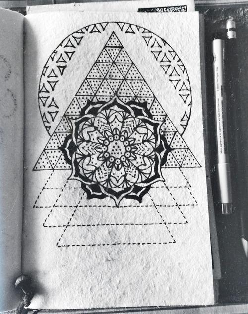 Sacred geometry tree of life tattoo