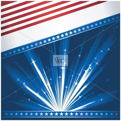 Stylised USA flag Stock Illustration - Veer.com