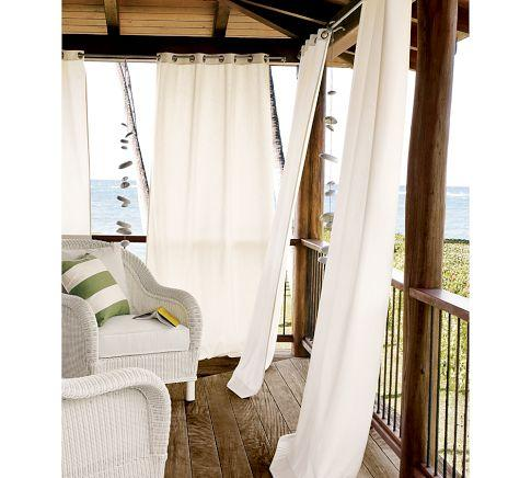 Outdoor Grommet Drape | Pottery Barn