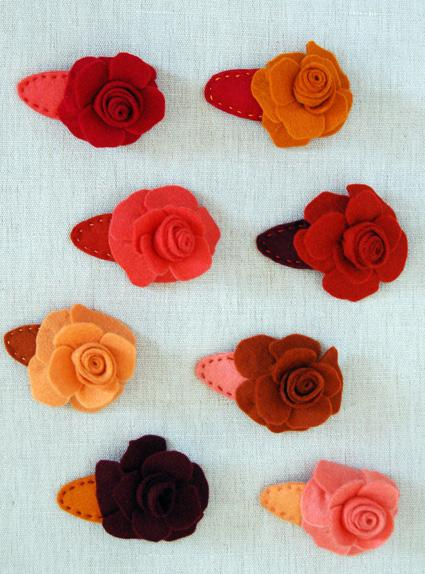 Rose Barrettes - the purl bee