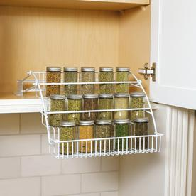 Shop Rubbermaid White Cabinet Mount Pull-Down Spice Rack at Lowes.com