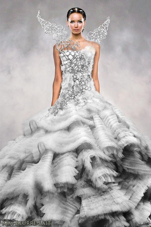 Katniss Everdeen Wedding Dress Costume