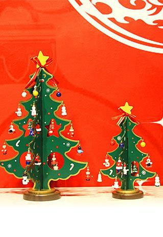 shego shopping mall — [grzxy61200004]Decoration Green Snowmen Snowflake Stars Pendants Festive Christmas Tree