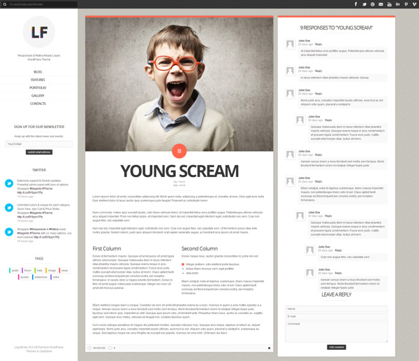 LiquidFolio - Portfolio Premium WordPress Theme on