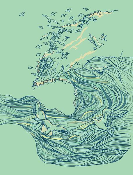 Ocean Breath Art Print by Huebucket | Society6 #347795 on ...