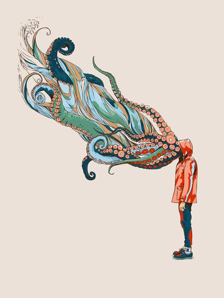 Octopus in me Art Print by Huebucket | Society6