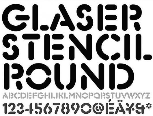 Designspiration — JohnMoore-GlaserStencilRound.jpg 588×447 pixel