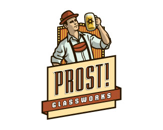 Designspiration — Prost! Glassworks by devey