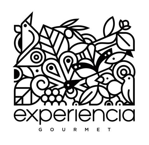 Designspiration — Experiencia Gourmet Illustrated Logo