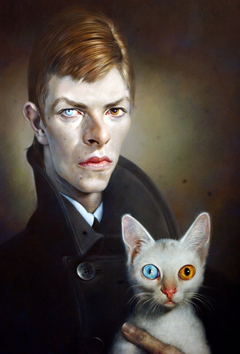 David Bowie & Cat ~ by Sebastian Kruger   cats 2