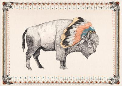 White Bison Art Print by Sandra Dieckmann | Society6