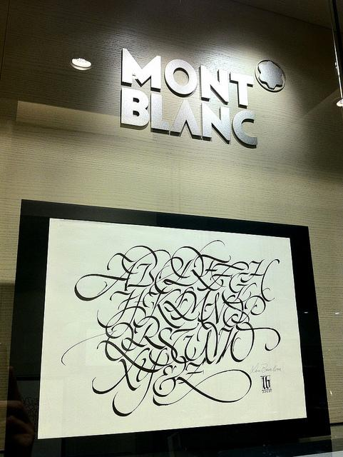 Mont Blanc | calligraphy demonstrations and exhibitions | Flickr - Photo Sharing!