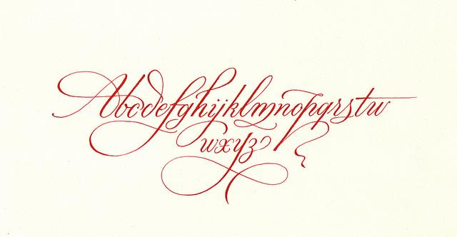 MB cursive alphabet | Flickr - Photo Sharing!