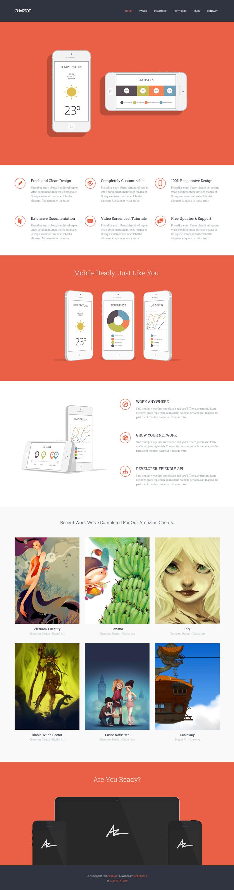 Chariot - Responsive Portfolio Theme - Flat Design