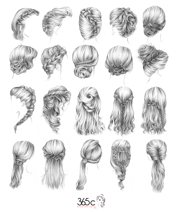 how to draw hairstyles tumblr - photo #20