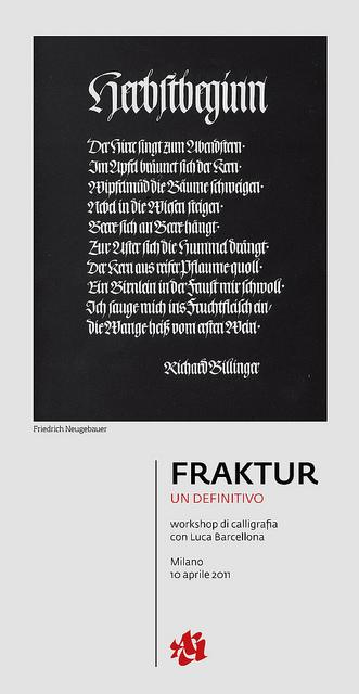 FRAKTUR - workshop avanzato. | Flickr - Photo Sharing!