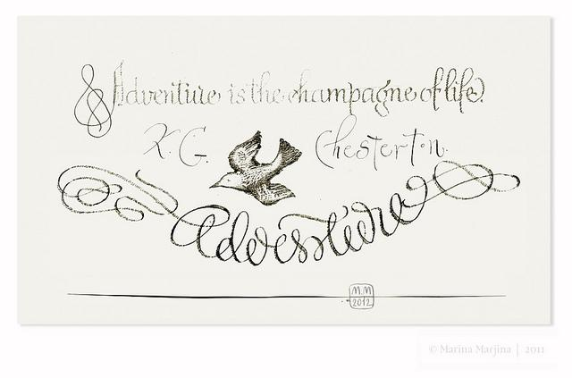 Sketch of postcard / Quote. K.G.Chesterton. | Flickr - Photo Sharing!
