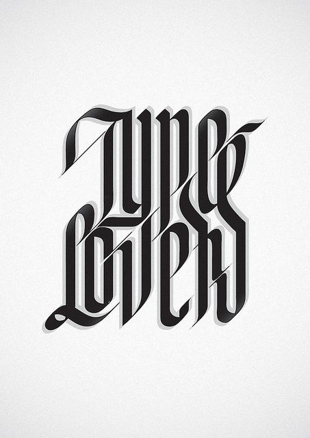 Type Lovers | Flickr - Photo Sharing!