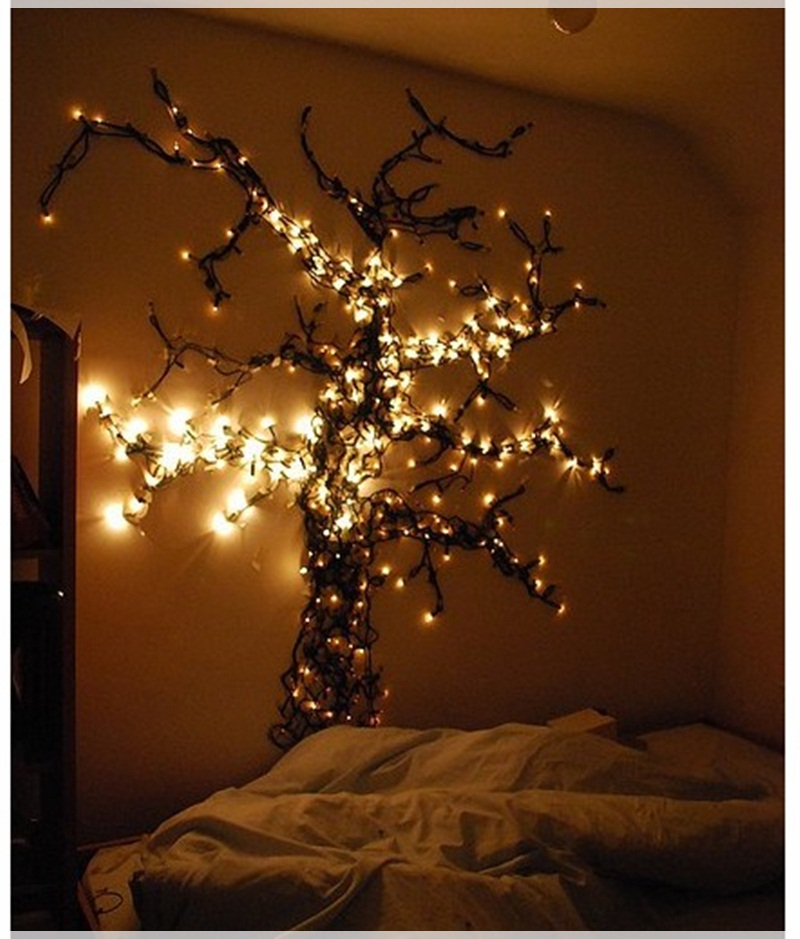 Ideas christmas decoration for hanging lights in the for Bedroom hanging lights