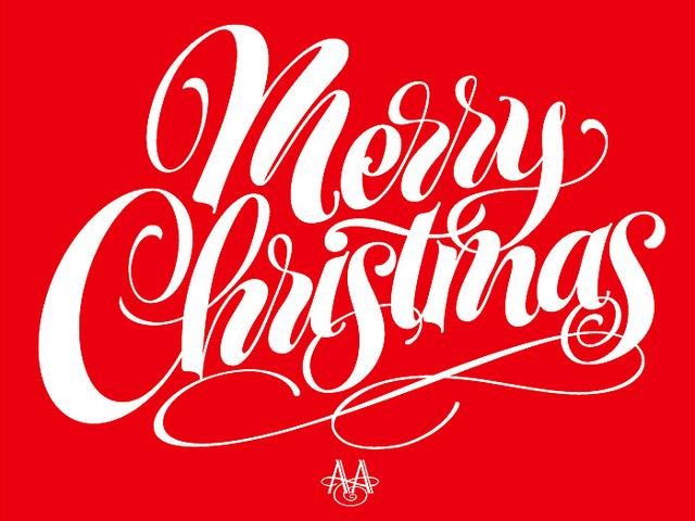 Merry Christmas lettering | Flickr - Photo Sharing!