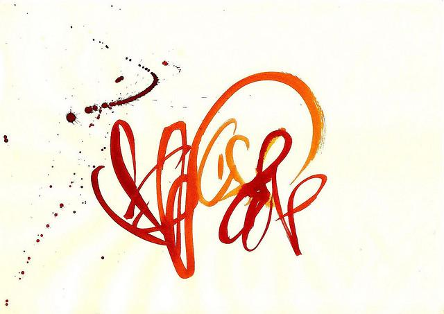 asemic calligraphy | Flickr - Photo Sharing!