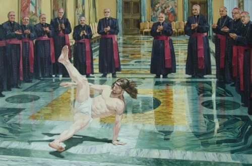"I Heart Chaos — Awesome art of the day: ""Breakdancing Jesus"" by..."