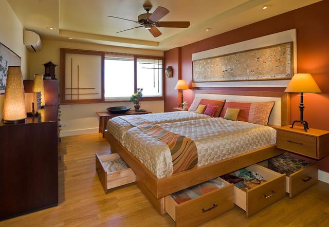 Bedroom - asian - bedroom - hawaii - by Archipelago Hawaii Luxury Home Designs