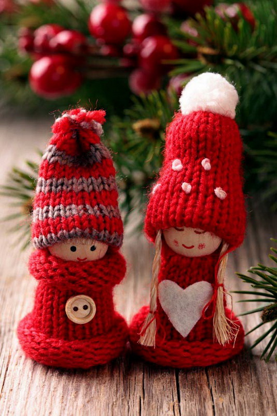 Christmas Tree Ornament Craft Ideas Part - 18: Christmas Decor U2013 Knit Christmas Tree Ornament Craft Ideas.   Family Holiday