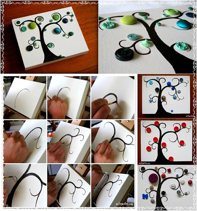 DIY Button Tree Tutorial DIY Projects | UsefulDIY.com