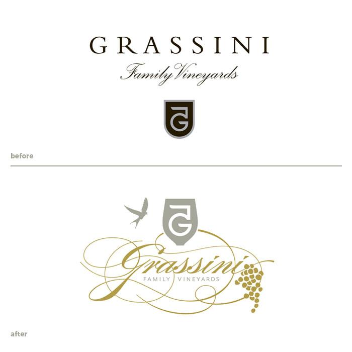 Grassini Family Vineyards - The Dieline: The World's #1 Package Design Website -