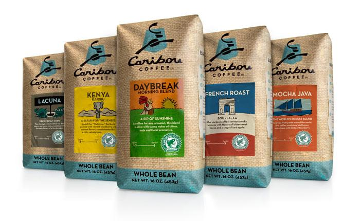 Before & After: Caribou Coffee Bags - The Dieline: The World's #1 Package Design Website -