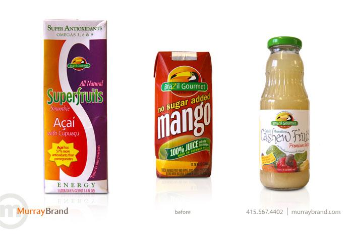Before & After: Brazil Gourmet - The Dieline: The World's #1 Package Design Website -
