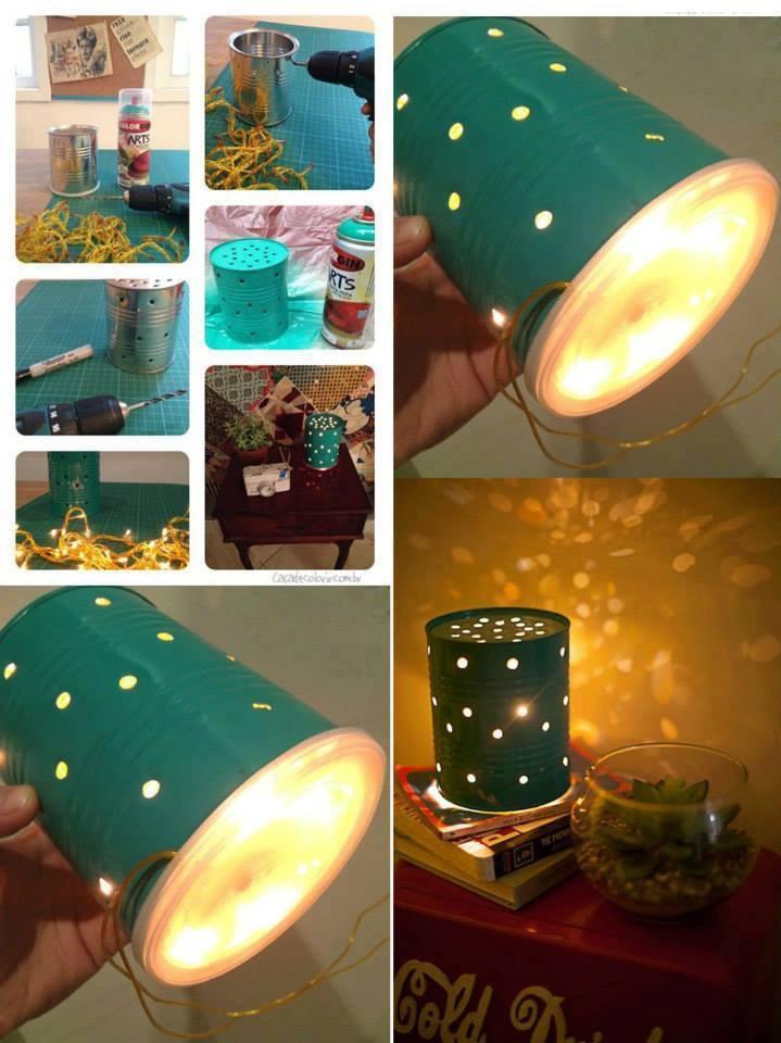 Настенные светильники из подручных материалов
