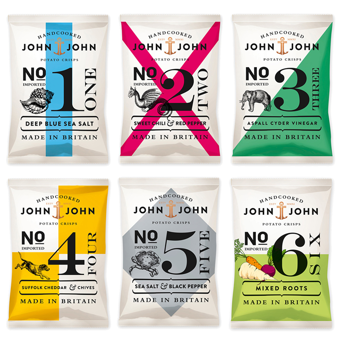 John & John Potato Crisps - The Dieline: The World's #1 Package Design Website -