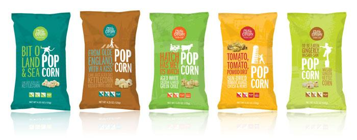 Crave Canyon Gourmet Popcorn - The Dieline: The World's #1 Package Design Website -