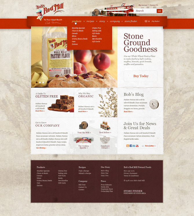 Bob's Red Mill - Tofslie & Co. | The Creative Studio of Edwin Tofslie - Creative Direction, Art Direction, Ideas, Design, Interactive, Web and Maker of Fine Jerky.