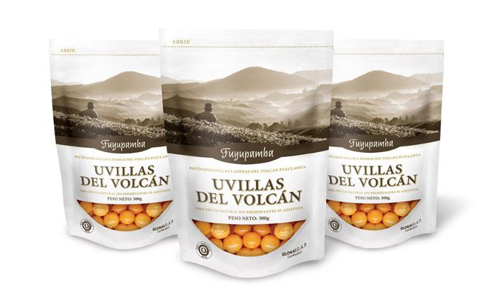 Uvillas Del Volcán  - The Dieline: The World's #1 Package Design Website -