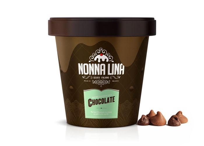 Nonna Lina Gelato Italiano - The Dieline: The World's #1 Package Design Website -