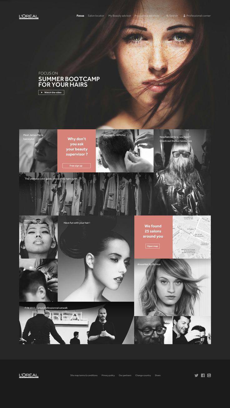 loreal professionnel web design | Inspiration DE