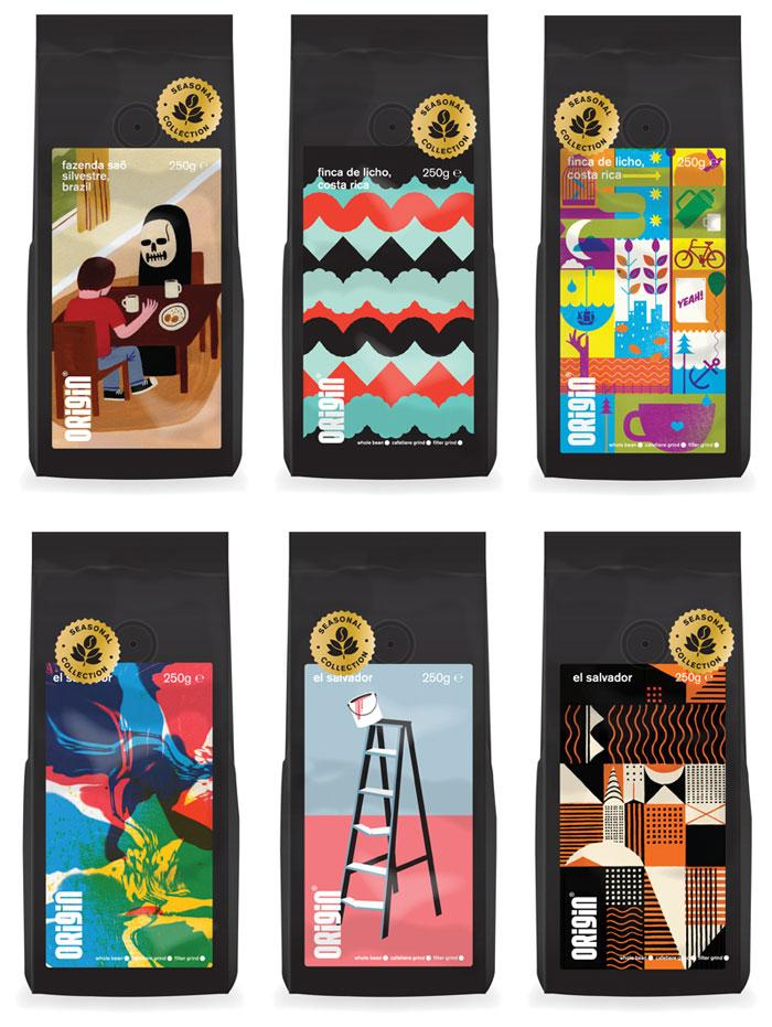 Origin Coffee - The Dieline: The World's #1 Package Design Website -
