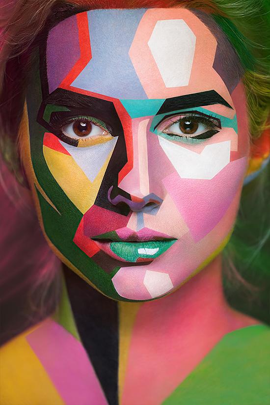 2D or not 2D: Amazing Face Paintings | Inspiration DE