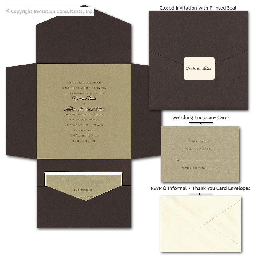 Gold Grandeur - Wedding Invitations by Invitation Consultants. (Item # TX-PDMDGS )