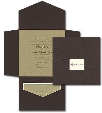 Gold Grandeur - Wedding Invitations by Invitation Consultants. (Item # TX-PDMDGS )