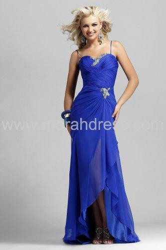 Shops Sheath Spaghetti Straps Asymmetrical Elastic Satin & Chiffon Prom / High Low Dress - $129.00 : Wedding Shops - Wedding Shop - Shop of Wedding, Wedding Shops - Wedding Shop - Shop of Wedding