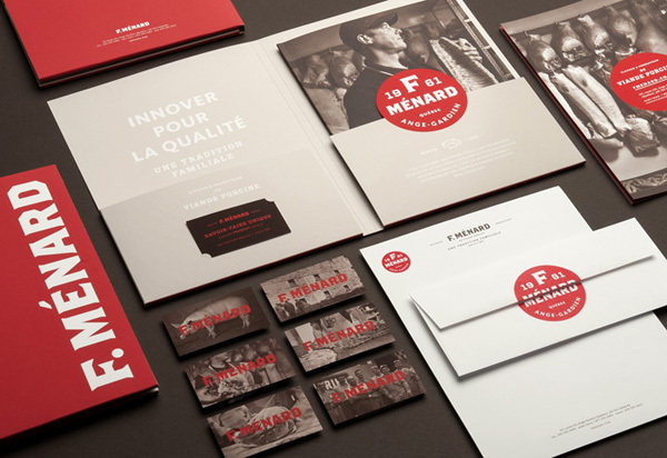 Letterheads / F. Ménard designed by lg2 boutique — Designspiration