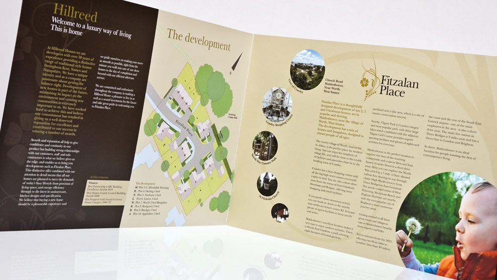 Hillreed Homes product brochure design and print